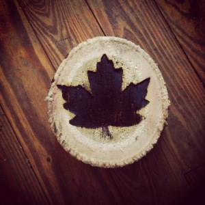 Woodburned Maple Leaf